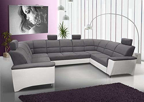 wohnlandschaft alvez mit staukasten lehne und bettfunktion abmessungen 338 217 cm l b. Black Bedroom Furniture Sets. Home Design Ideas