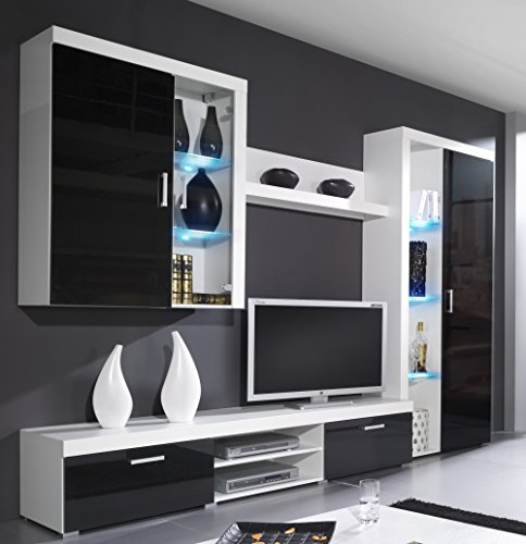 wohnwand samba mit led beleuchtung wohnzimmer m bel m bel24. Black Bedroom Furniture Sets. Home Design Ideas