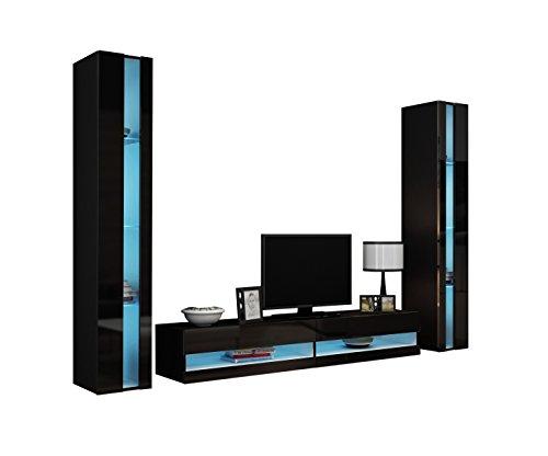 wohnwand vigo new iii anbauwand design mediawand. Black Bedroom Furniture Sets. Home Design Ideas