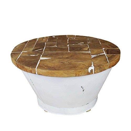 wohnzimmer couchtisch aus eisen wei rund pharao24 m bel24. Black Bedroom Furniture Sets. Home Design Ideas