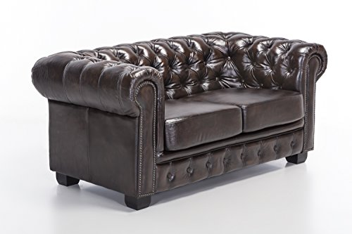 woodkings chesterfield sofa 2er braun vintage echtleder. Black Bedroom Furniture Sets. Home Design Ideas