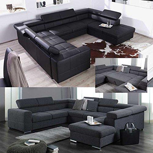 Xxl wohnlandschaft couch cary u form versch farben for Wohnlandschaft xxl u form