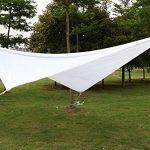 Yahee 4 x 4 m Sonnensegel Sonnenschutz Garten Windschutz Quadrat, wasserabweisend, UV Schutz, weiß