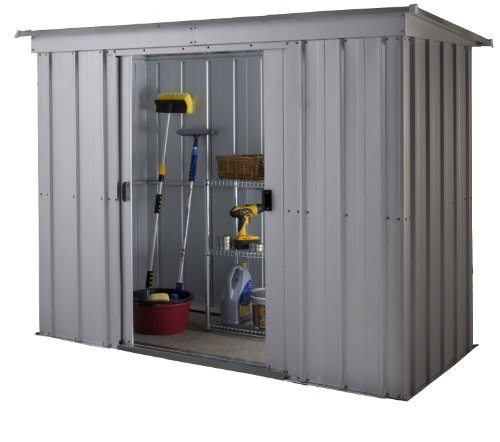 Yardmaster International 64PZ 6 x 4 ft store-all Silber Pultdach mit Schieferdach Metall Schuppen