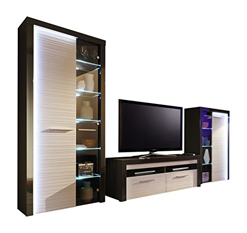 trendteam flo wohnwand wohnkombination anbauwand. Black Bedroom Furniture Sets. Home Design Ideas