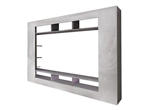 trendteam sd89535 wohnwand tv m bel weiss hochglanz moebel24 online. Black Bedroom Furniture Sets. Home Design Ideas