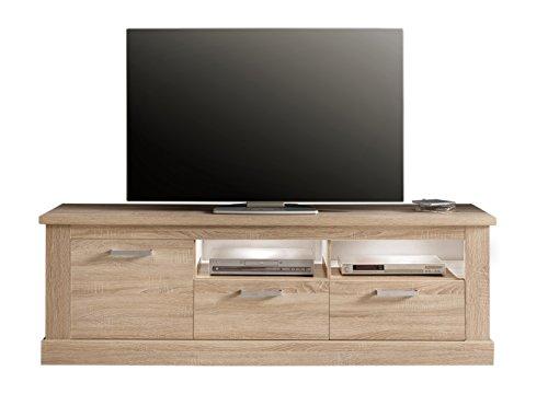 trendteam syd32045 tv m bel lowboard eiche s gerau hell nachbildung bxhxt 186x61x52 cm m bel24. Black Bedroom Furniture Sets. Home Design Ideas
