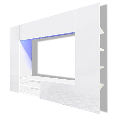 vidaxl hochglanz mediawand wohnwand led tv wand schwarz 1692 cm 0 m bel24. Black Bedroom Furniture Sets. Home Design Ideas