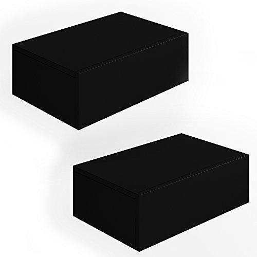 2x nachttisch kommode nachtschrank schublade ablage. Black Bedroom Furniture Sets. Home Design Ideas