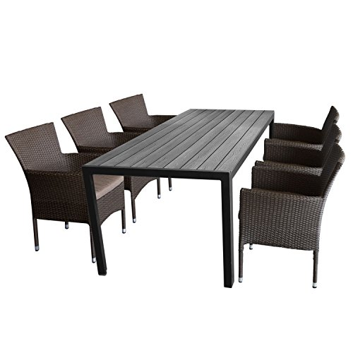 7tlg gartengarnitur sitzgruppe terrassenm bel gartenm bel set sitzgarnitur gartentisch. Black Bedroom Furniture Sets. Home Design Ideas