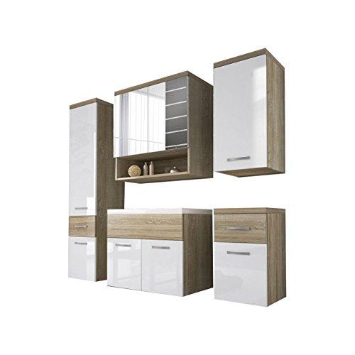 badmbel set bella ii mit waschbecken und siphon modernes. Black Bedroom Furniture Sets. Home Design Ideas