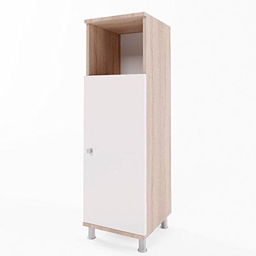 beistellschrank fynn eiche sonoma midischrank badezimmerschrank badschrank schrank regal m bel24. Black Bedroom Furniture Sets. Home Design Ideas