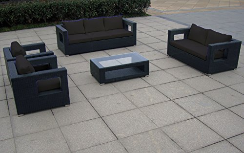 baidani garten lounge garnitur flachrattan seaside select m bel24. Black Bedroom Furniture Sets. Home Design Ideas