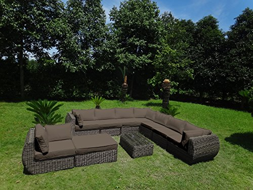 baidani garten lounge garnitur rundrattan masterpiece. Black Bedroom Furniture Sets. Home Design Ideas