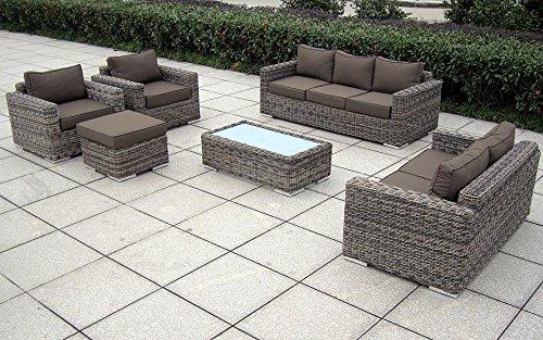 baidani gartenmbel sets 10a00002 designer lounge garnitur escape 3 er sofa 2 er sofa 2 sessel. Black Bedroom Furniture Sets. Home Design Ideas