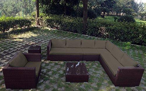baidani rattan garten lounge garnitur destiny braun meliert m bel24. Black Bedroom Furniture Sets. Home Design Ideas