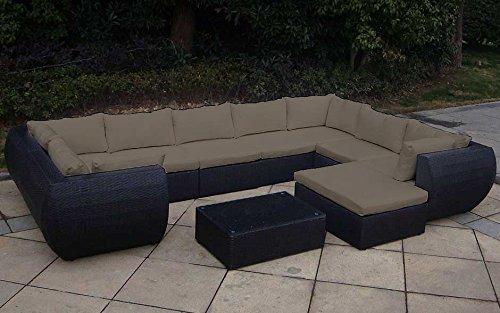 baidani rattan garten lounge garnitur extreme schwarz. Black Bedroom Furniture Sets. Home Design Ideas