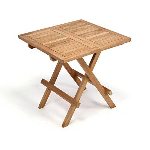 divero balkontisch gartentisch tisch beistelltisch holz teak klappbar 50 cm m bel24. Black Bedroom Furniture Sets. Home Design Ideas