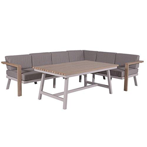 garden impressions canberra 3 teillige garten sitzgruppe lounge ess kombination f r 5 6. Black Bedroom Furniture Sets. Home Design Ideas