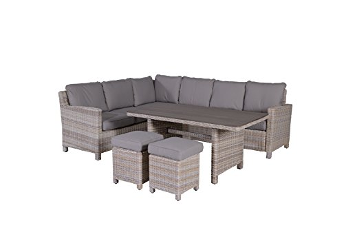 garden impressions lounge dinner set 5 teilige bogota outdoor gartenm bel sitzgruppe aus. Black Bedroom Furniture Sets. Home Design Ideas