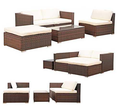 poly rattan lounge gartenset braun sofa garnitur polyrattan gartenm bel neu m bel24. Black Bedroom Furniture Sets. Home Design Ideas