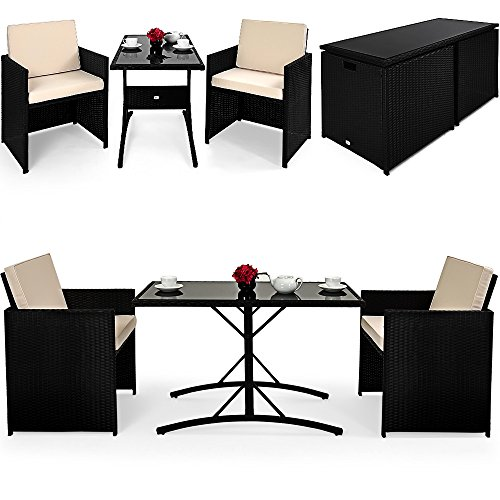 poly rattan sitzgruppe cube 2 1 balkon set m bel24. Black Bedroom Furniture Sets. Home Design Ideas
