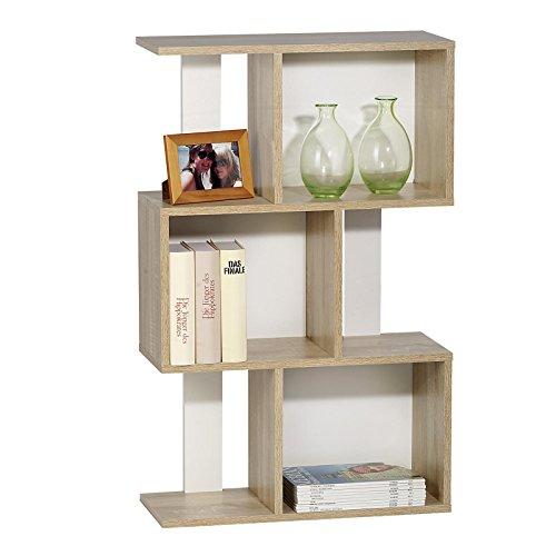raumteiler regal b cherregal odessa in sonoma eiche wei offene f cher 60 x 96 x 24 cm b x. Black Bedroom Furniture Sets. Home Design Ideas