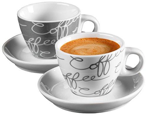 ritzenhoff breker cornello espresso set 2 tassen untertassen grau 80ml m bel24. Black Bedroom Furniture Sets. Home Design Ideas