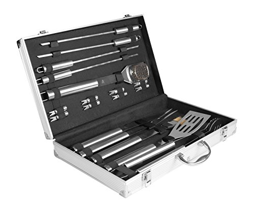 Rustler rs 0524 grillbesteck set im aliminium koffer for Best moebel24