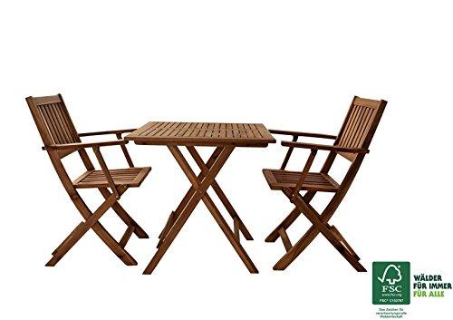 sam 3 teilige robuste gartengruppe garten tischgruppe aus akazien holz sitzgruppe bestehend aus. Black Bedroom Furniture Sets. Home Design Ideas