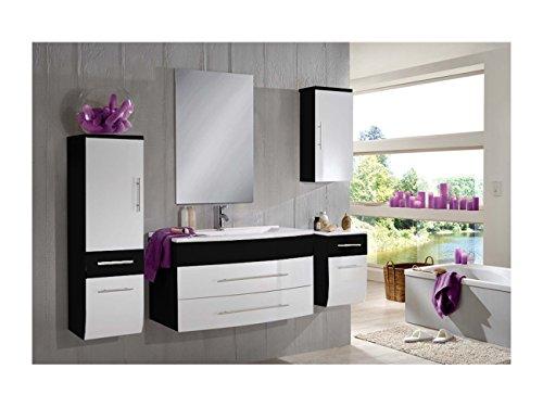 sam design badmbel set zrich light in schwarz wei 5 teilig beckenauswahl mgliche varianten. Black Bedroom Furniture Sets. Home Design Ideas