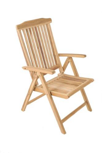 sam garten hochlehner gartenmbel aus teak holz klappstuhl ist 5 fach verstellbar terrassen stuhl. Black Bedroom Furniture Sets. Home Design Ideas