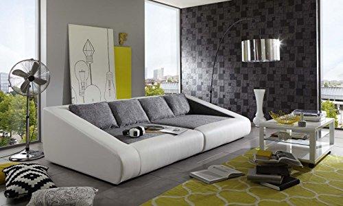 sam schlafsofa siena grau wei sofa 260 cm inklusive kissen lieferung per spedition m bel24. Black Bedroom Furniture Sets. Home Design Ideas