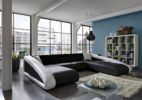 Sam sofa garnitur ciao wohnlandschaft schwarz schwarz for Sam wohnlandschaft