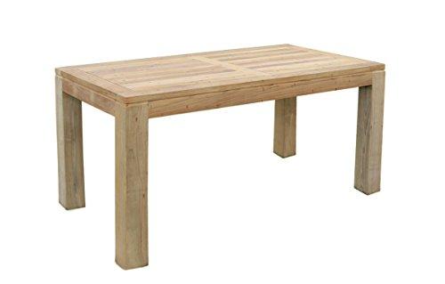 teak holz tisch rechteckig mit quadratischen eckbeinen 220x100x75cm m bel24. Black Bedroom Furniture Sets. Home Design Ideas