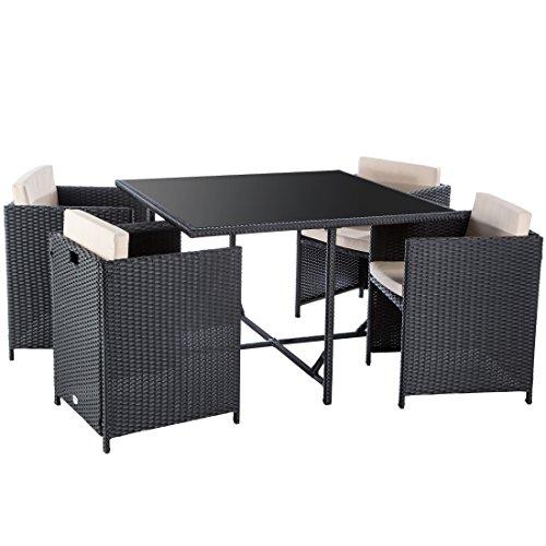 ultranatura poly rattan lounge set palma serie 5 teilig. Black Bedroom Furniture Sets. Home Design Ideas