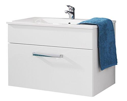trendteam ado31101 h nge waschbeckenunterschrank inklusive waschbecken wei hochglanz bxhxt 81. Black Bedroom Furniture Sets. Home Design Ideas
