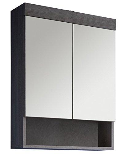 Trendteam rn50121 bad spiegelschrank rauchsilber for Hochwertiger spiegelschrank bad