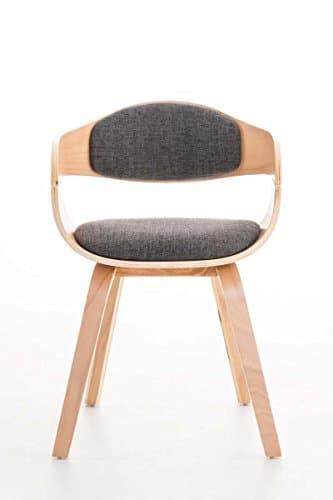 Clp design holz stuhl mit armlehne kingston besucher stuhl gepolstert stoffbezug stoff - Stuhl mit namen ...