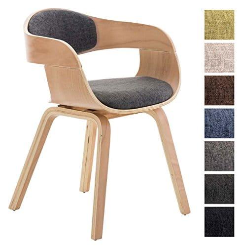 clp design holz stuhl mit armlehne kingston besucher stuhl gepolstert stoffbezug stoff. Black Bedroom Furniture Sets. Home Design Ideas
