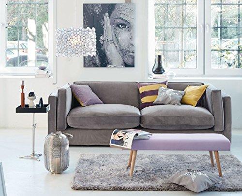 impressionen living sofa 3 sitzer lose husse abnehmbare bez ge inkl zierkissen grau. Black Bedroom Furniture Sets. Home Design Ideas