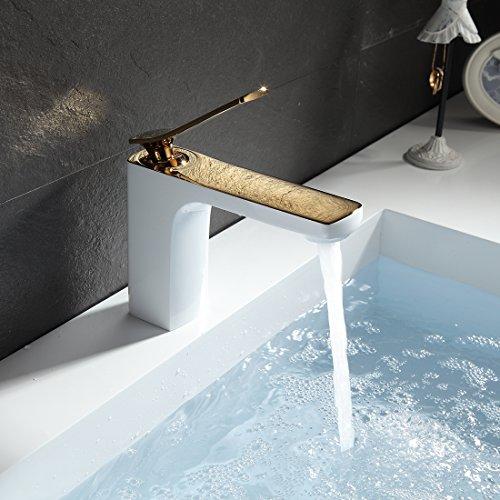 gimili amaturen badezimmer wasserhahn bad armatur weiss gold waschtischarmatur mischbatterie. Black Bedroom Furniture Sets. Home Design Ideas