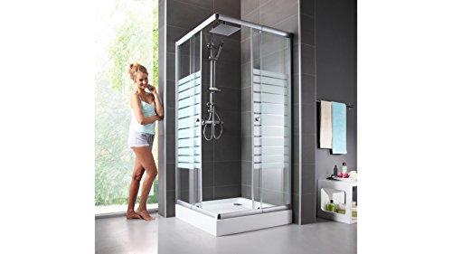 baumarkt direkt eckdusche trento variabel verstellbar 80 90 cm duschkabine silberfarben. Black Bedroom Furniture Sets. Home Design Ideas