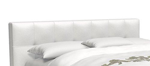 SAM® Design Boxspringbett Zadar Sole weiß mit 7-Zonen H2 Taschenfederkern-Matratze und Chrom-Füßen, 180 x 200 cm 1