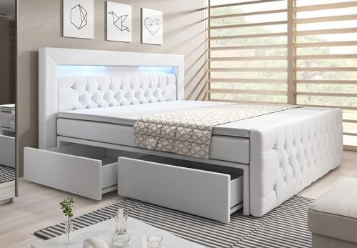 boxspringbett 180x200 bettkastenschublade bettkasten. Black Bedroom Furniture Sets. Home Design Ideas