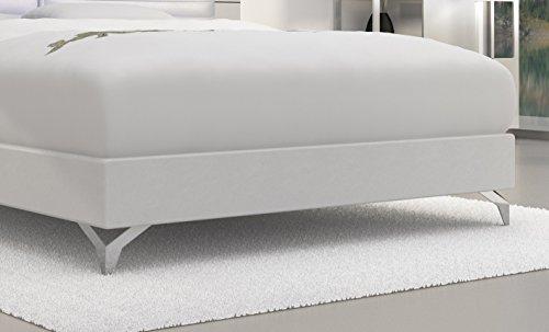 SAM® Design Boxspringbett Almeria Grenada weiß mit 7-Zonen H2 Taschenfederkern-Matratze, Chrom-Füßen und LED-Beleuchtung 180 x 200 cm 2