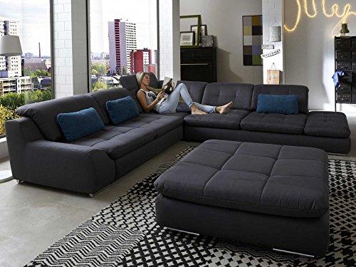 polsterecke wohnlandschaft sofa spike mit schlaffunktion und bettkasten ecksofa kunstleder. Black Bedroom Furniture Sets. Home Design Ideas