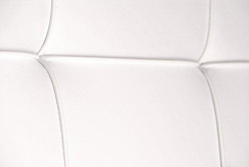 SAM® Design Boxspringbett Zadar Sole weiß mit 7-Zonen H2 Taschenfederkern-Matratze und Chrom-Füßen, 180 x 200 cm 4