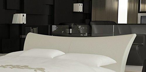 SAM® Design Boxspringbett Wild Grenada weiß mit 7-Zonen H2 Taschenfederkern-Matratze und Chrom-Füßen 180 x 200 cm 1