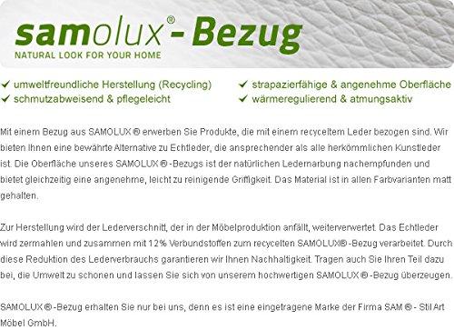 SAM® Design Boxspringbett Almeria Grenada weiß mit 7-Zonen H2 Taschenfederkern-Matratze, Chrom-Füßen und LED-Beleuchtung 180 x 200 cm 7
